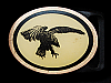 NA09168 VINTAGE 1970s TECH-ETHER GUILD **BALD EAGLE** SOLID BRASS BELT BUCKLE