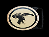 NA09169 VINTAGE 1981 TECH-ETHER GUILD **BALD EAGLE** SOLID BRASS BELT BUCKLE
