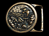NA13167 VINTAGE 1975 TECH-ETHER GUILD **SEASCAPE I** SOLID BRASS ART BELT BUCKLE