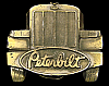 NA06135 AWESOME VINTAGE 1987 ***PETERBILT TRUCKS*** LOGO LONGNOSE TRUCKER BUCKLE
