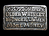 NA17129 VINTAGE 1977 *FASTER HORSES OLDER WHISKEY YOUNGER WOMEN* FUNNY BUCKLE