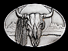 NA19142 VERY COOL VINTAGE 1989 **BUFFALO SKULL** BELT BUCKLE