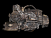 NA21108 VINTAGE 1981 CUT-OUT **STEAM ENGINE TRAIN** RAILROAD BELT BUCKLE