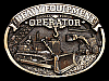 NA21123 VINTAGE 1986 **HEAVY EQUIPMENT OPERATOR** BELT BUCKLE