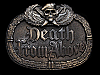 NA21146 VINTAGE 1984 **DEATH FROM ABOVE** MILITARY BELT BUCKLE