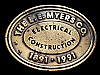 NA27120 VINTAGE 1991 **THE L.E. MYERS CO. ELECTRICAL CONSTRUCTION** BELT BUCKLE