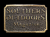 NA27121 VINTAGE 1982 **SOUTHERN OUTDOORS MAGAZINE** BELT BUCKLE