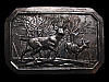 NA29104 VINTAGE 1976 ****DEER IN FOREST**** BELT BUCKLE