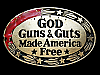 NA29146 VINTAGE 1978 **GOD GUNS & GUTS MADE AMERICA FREE** BELT BUCKLE