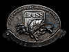 NA29147 VINTAGE 1970s **BASS ANGLERS SPORTSMAN SOCIETY LIFE MEMBER** BUCKLE