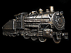 NA29159 VINTAGE 1980 CUT-OUT **STEAM TRAIN ENGINE** RAILROAD BELT BUCKLE