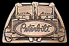 NB04105 **NOS** GREAT VINTAGE 1981***PETERBILT TRUCKS*** LOGO 18 WHEELER BUCKLE