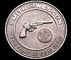 NB04157 VINTAGE 1970s ***SMITH & WESSON*** LOGO THE RIGHT TO BEAR ARMS BUCKLE