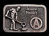NB05102 VINTAGE 1970s **ATLANTIC FOUNDRY** COMPANY BELT BUCKLE