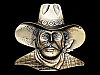 NB05130 *NOS* VINTAGE 1980 CUT-OUT **FACE OF COWBOY** BELT BUCKLE
