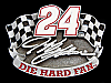 NB09112 1997 **JEFF GORDON #24 DIE HARD FAN** SPORTS RACING BELT BUCKLE