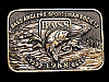 NB11130 VINTAGE 1988 **BASS ANGLERS SPORTSMAN SOCIETY** FISHING BUCKLE