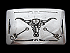 NB11166 VINTAGE 1970s **CATTLE HEAD** WESTERN & COWBOY BELT BUCKLE