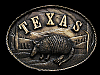 NB13147 VINTAGE 1980 **TEXAS (ARMADILLO)** SOUVENIR BELT BUCKLE