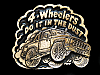 NB15144 VINTAGE 1980 **4-WHEELERS DO IT IN THE DUST** BELT BUCKLE