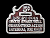 NB25122 VINTAGE 1979 **INSERT COIN, UNZIP, SHAKE WELL** FUNNY BELT BUCKLE