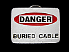 NB25136 VERY COOL **DANGER BURIED CABLE** FUNNY BELT BUCKLE