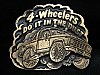NC01116 VINTAGE 1980 **4-WHEELERS DO IT IN THE DUST** BELT BUCKLE