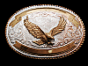 NC01142 VINTAGE 1970s **BALD EAGLE** CRUMRINE TROPHY BELT BUCKLE