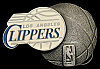 NB24104 *NOS* COOL VINTAGE 1994 ***LOS ANGELES CLIPPERS*** BASKETBALL BUCKLE