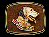 NC07123 VINTAGE 1979 **ENGLISH-SETTER** DOG BELT BUCKLE