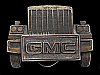 NC25153 VINTAGE 1987 CUT-OUT **GMC** TRUCK COMPANY BELT BUCKLE