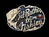NC29154 *NOS* VINTAGE 1985 **I'D RATHER BE FISHING** BELT BUCKLE