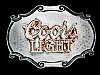 NC31130 COOL VINTAGE 1978 **COORS LIGHT** BEER BELT BUCKLE