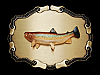 ND01117 *NOS* VINTAGE 1978 **RAINBOW TROUT** FISH BELT BUCKLE