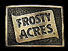 NC13125 VINTAGE 1978 **FROSTY ACRES** (CAMPGROUND) BELT BUCKLE
