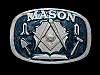 ND03136 VINTAGE 1986 **MASON** FREEMASON FRATERNAL ORDER BELT BUCKLE