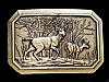 ND05104 VINTAGE 1976 **DEER (FOREST MOUNTAIN SCENE)** BELT BUCKLE