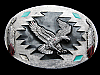 ND05112 VINTAGE 1993 **BALD EAGLE & FEATHERS** SOUTHWESTERN DESIGN BELT BUCKLE