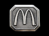 ND07144 *NOS* VINTAGE 1978 **McDONALD'S GOLDEN ARCHES** LOGO PEWTER BELT BUCKLE