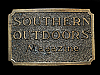 ND11118 VINTAGE 1982 **SOUTHERN OUTDOORS MAGAZINE** BELT BUCKLE