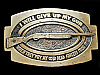 ND11138 VINTAGE 1979 **I WILL GIVE UP MY GUN WHEN...** BELT BUCKLE
