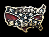 ND11148 VINTAGE 1981 **THE SOUTH WILL RISE AGAIN** BELT BUCKLE