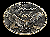 ND15132 VINTAGE 1970s **TRANSTAR EAGLE (INTERNATIONAL TRUCK)** BELT BUCKLE