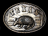 ND21108 COOL VINTAGE 1980 ***TEXAS ARMADILLO*** BELT BUCKLE