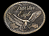 ND21146 VINTAGE 1970s **TRANSTAR EAGLE** TRUCK COMPANY BELT BUCKLE