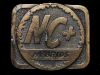 NE05149 VINTAGE 1970s **NC+ HYBRIDS** (SEED & FARMING RELATED) BELT BUCKLE
