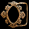 NE08143 RARE EARLY 1970s TECH-ETHER **BAROQUE ORNAMENT** SOLID BRASS ART BUCKLE