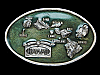 NE15135 VINTAGE 1984 **ISLANDS OF HAWAII** PEWTER ARROYO GRANDE BELT BUCKLE