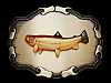 NE21113 *NOS* VINTAGE 1970s **TROUT FISH** FISHING BRASSTONE RAINTREE BUCKLE