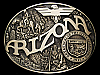 JH23132 VINTAGE 1980s AWARD DESIGN **ARIZONA** STATE SEAL SOLID BRASS BUCKLE